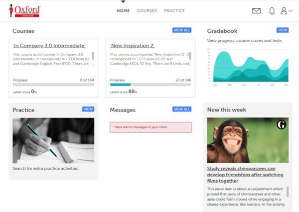 Piattaforma Online Oxford School Conegliano